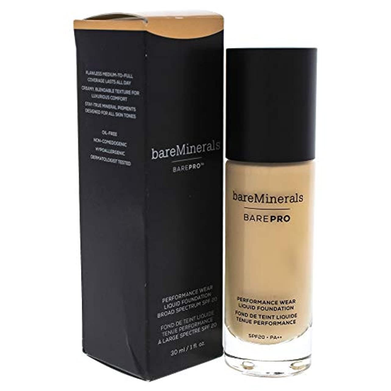 鉛パット夕暮れベアミネラル BarePro Performance Wear Liquid Foundation SPF20 - # 09 Light Natural 30ml/1oz並行輸入品