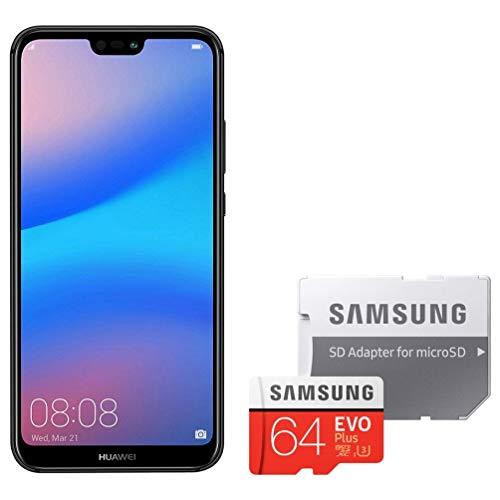 HUAWEI P20 lite ミッドナイトブラック & Samsung microSDカード64GB セット