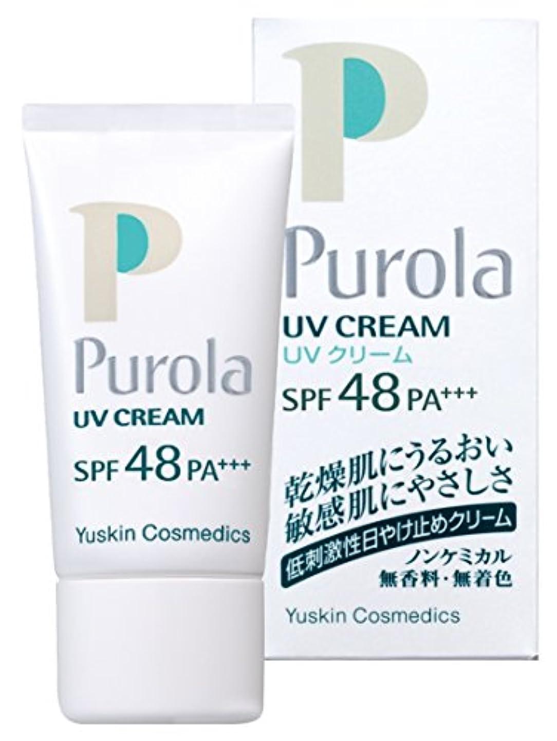 長さ日焼け分プローラ UVクリーム 30g SPF48 PA+++ (敏感肌用 日焼け止め)