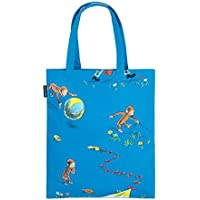 Out of Print Curious George Tote Bag 15 X 17 Inches