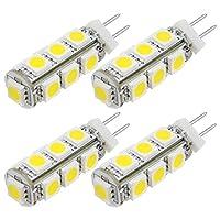 [MENGS] 4個 LED電球 G4 2.2W 15W形相当 昼光色 DC 12V
