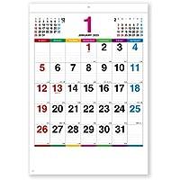 新日本カレンダー 2020年 カレンダー 壁掛け カラーラインメモ 小 NK450