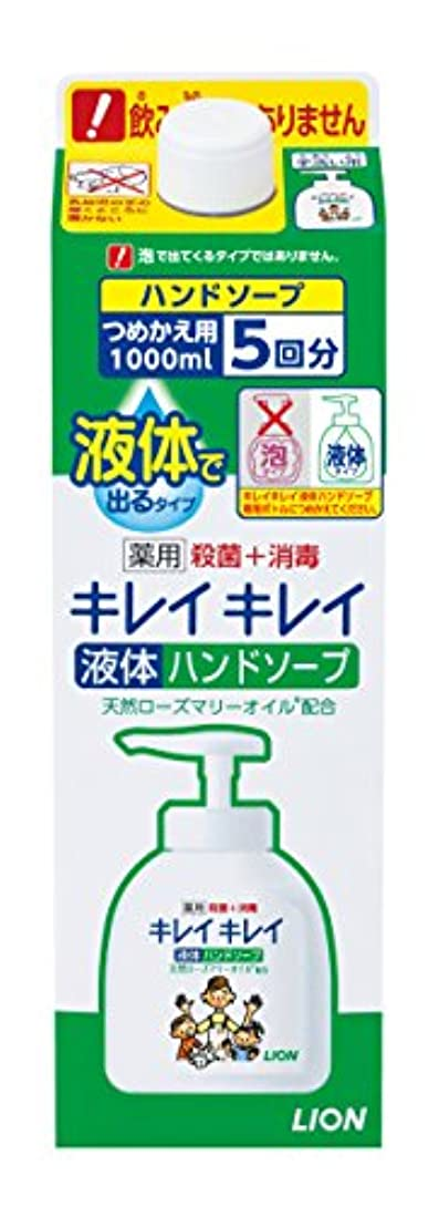 盆振り返る太字キレイキレイ 薬用 液体ハンドソープ 詰替特大 1000ml (医薬部外品)