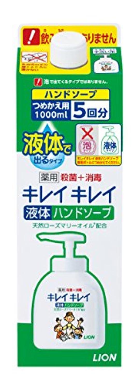 病な忙しい隠されたキレイキレイ 薬用 液体ハンドソープ 詰替特大 1000ml (医薬部外品)