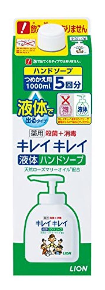 アクチュエータ歩く手荷物キレイキレイ 薬用 液体ハンドソープ 詰替特大 1000ml (医薬部外品)