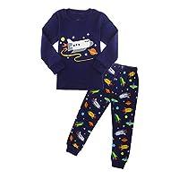 ZFBOZS Boys Pajamas Toddler PJs Sets 100% Cotton Long Sleeve Vehicles Sleepwear Size 3-8 Years