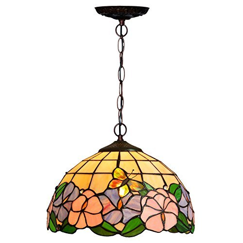Bieye照明 ステンドグラスランプ シーリングランプ シャ...