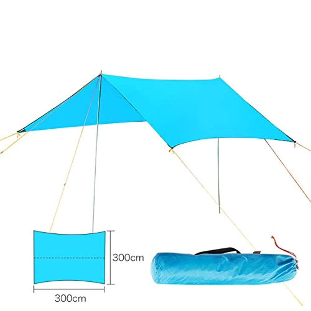 炎上凍結固有のOkiiting 屋外旅行テント9.8x9.8ft紫外線保護防水強風ウェアラブルポータブルテント品質保証 うまく設計された (色 : 青, サイズ : Free size)