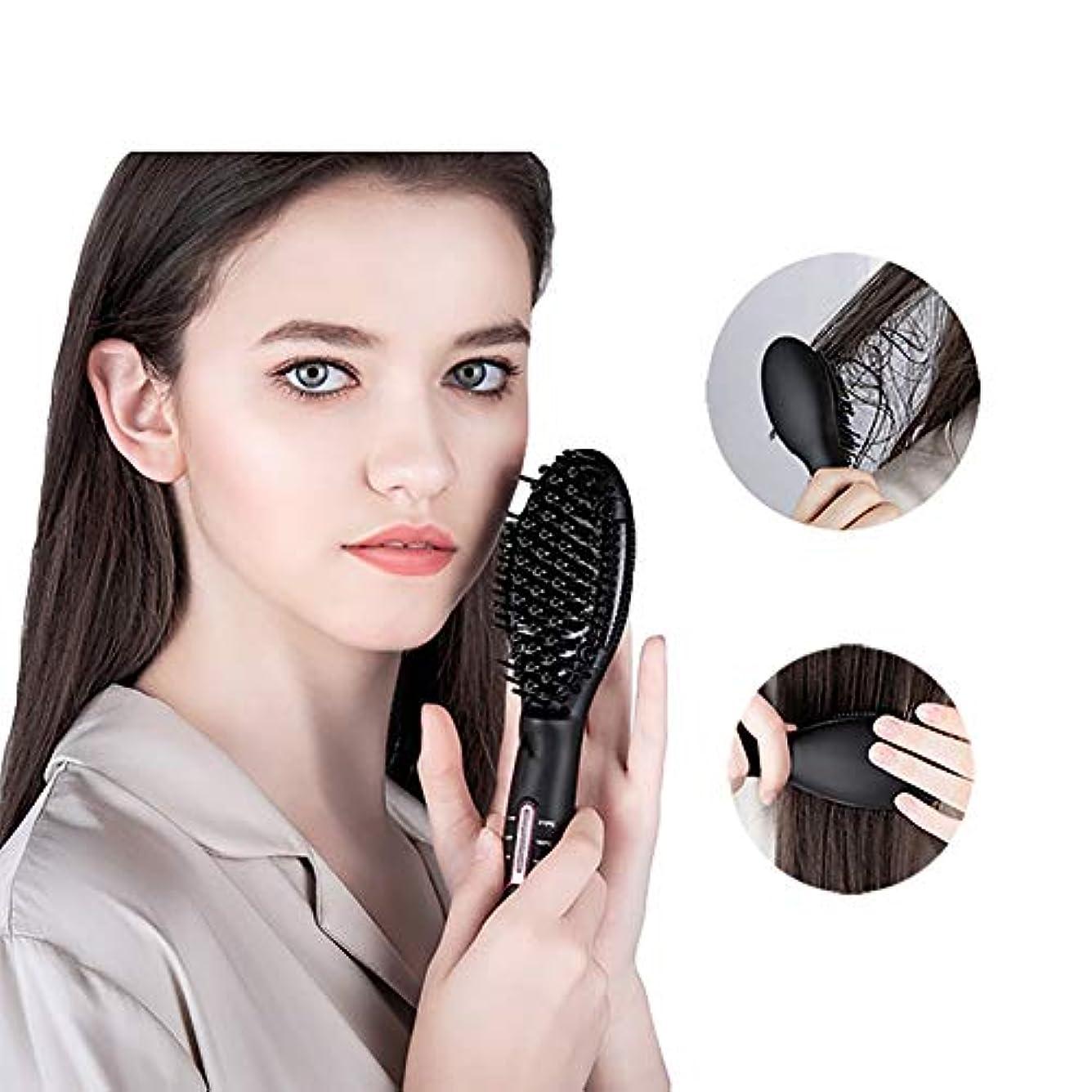 パステル廃棄するだろう多機能ヘアコーム、男性と女性のためのストレートの髪とウェットくし、360°アンチ火傷デザインインテリジェント温度制御