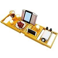 バスタブトレー バステーブル 大サイズ バスブックスタンド 伸縮式 バスタブラック 竹製 お風呂用品