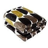 ナイスデイ 毛布 bowl柄カーキ シングル yucuss ずっとふれていたいブランケット 北欧デザイン 360701K1