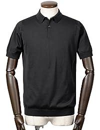 ジョンスメドレー JOHN SMEDLEY / 18SS!シーアイランドコットン30ゲージ半袖ニットポロシャツ『RHODES』 (BLACK/ブラック) メンズ