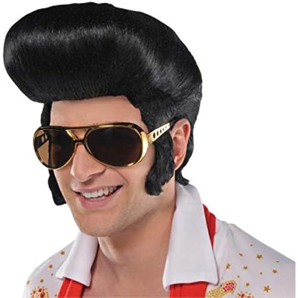 Amazon   Fabulous '50s Costume Party Elvis Wig, Black, Synthetic Fiber,  1-piece   コスプレ・仮装 通販