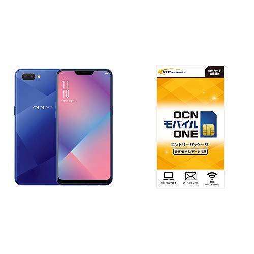 OPPO R15 Neo国内正規品6.2インチ/SIMフリースマートフォン/ダイヤモンド ブルー(4GB/64GB/4,230mAh) 873419  OCN モバイル ONE エントリーパッケージセット
