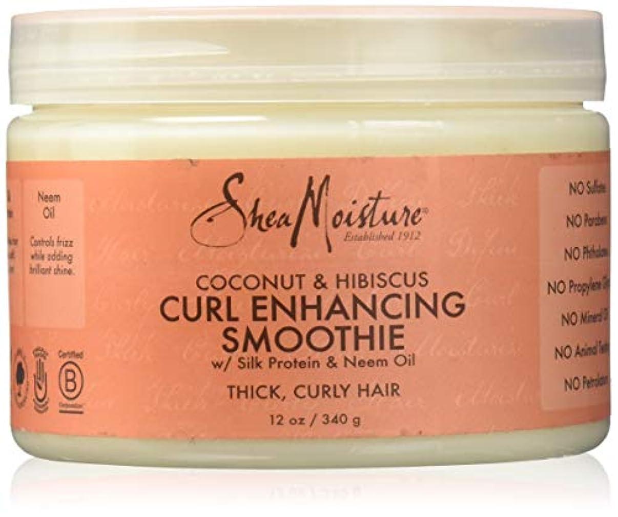 骨の折れるどんよりしたどんよりしたShea Moisture Coconut & Hibiscus Curl Hold Smoothie - 12 OZ.