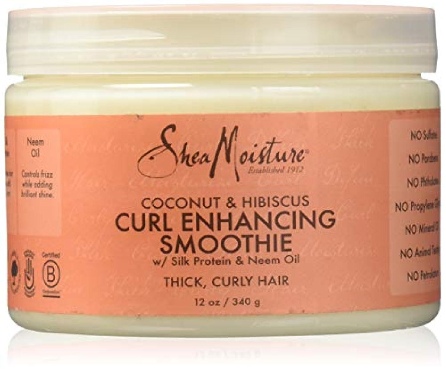 一過性唯物論マウスピースShea Moisture Coconut & Hibiscus Curl Hold Smoothie - 12 OZ.