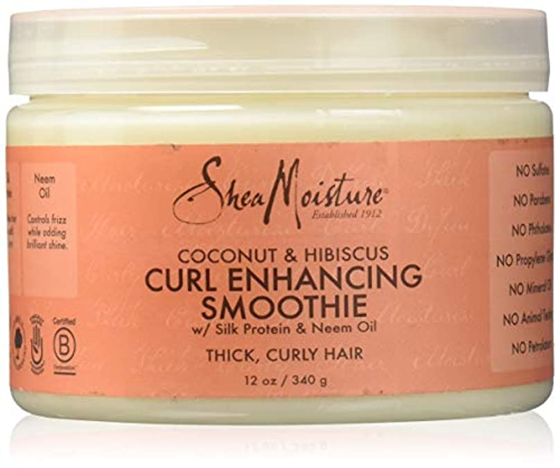 医療の思慮深い行進Shea Moisture Coconut & Hibiscus Curl Hold Smoothie - 12 OZ.