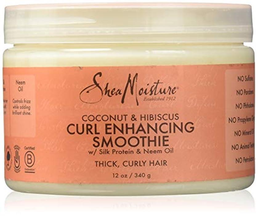空中割れ目保険をかけるShea Moisture Coconut & Hibiscus Curl Hold Smoothie - 12 OZ.