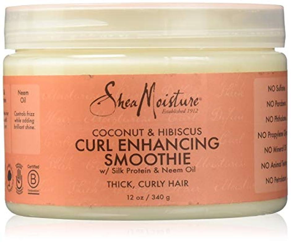 オン陽気な目を覚ますShea Moisture Coconut & Hibiscus Curl Hold Smoothie - 12 OZ.