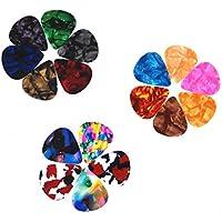 ピックギターピックセットguitar picks - BestSoundsそれぞれ厚さカラフル 多種多色 (18枚)