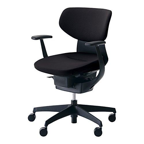 コクヨ オフィスチェア イング CR-G3201E6G4B6-V ラテラルタイプ ブラックシェル T型肘 樹脂脚ブラック 布ブラック フローリング用