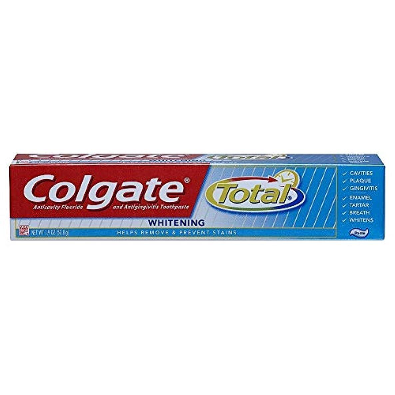 勘違いする利用可能宿泊Colgate 合計トラベルサイズホワイトニングペースト歯磨き粉、1.9オンス 1パック