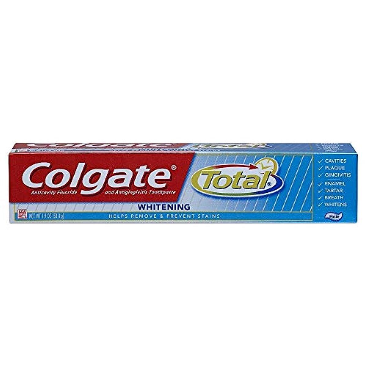 条約洞窟さようならColgate 合計トラベルサイズホワイトニングペースト歯磨き粉、1.9オンス 1パック