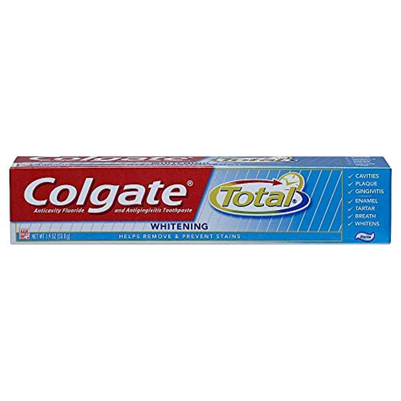 スピンピンチ文芸Colgate 合計トラベルサイズホワイトニングペースト歯磨き粉、1.9オンス 1パック