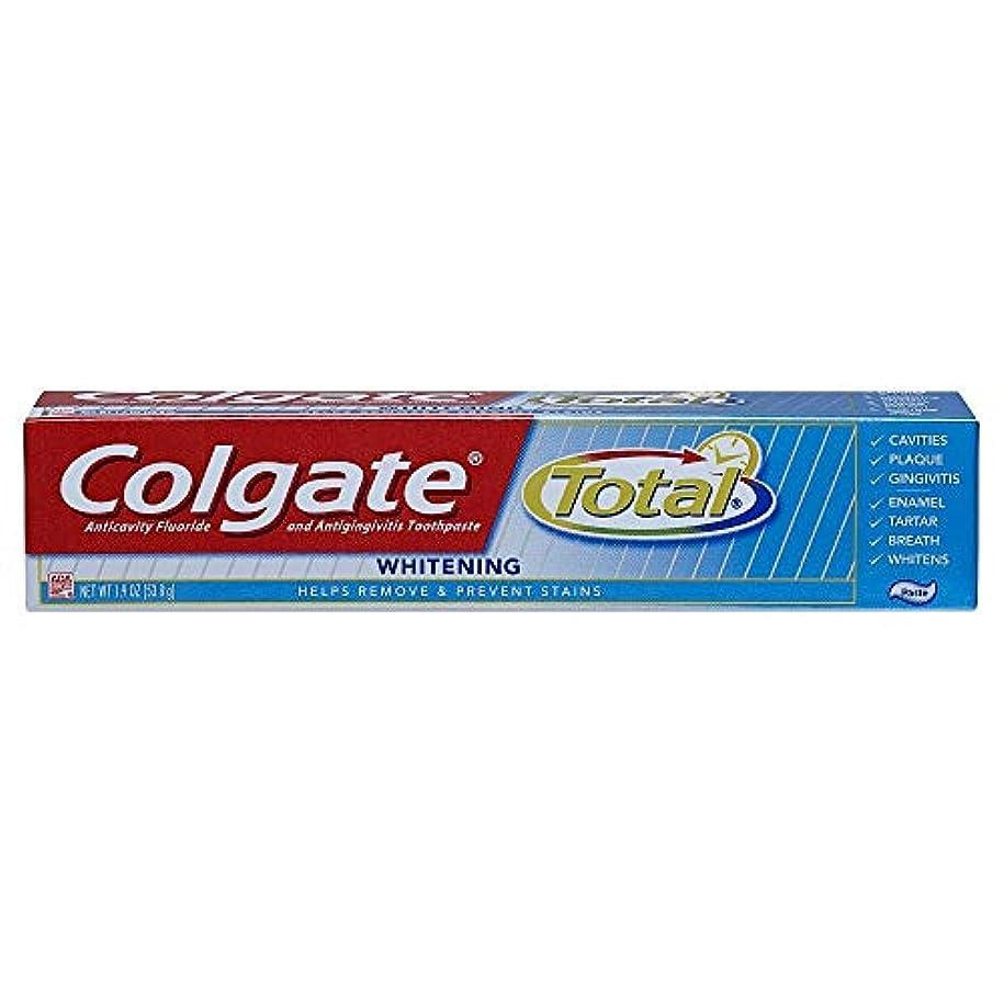 等王子繕うColgate 合計トラベルサイズホワイトニングペースト歯磨き粉、1.9オンス 1パック