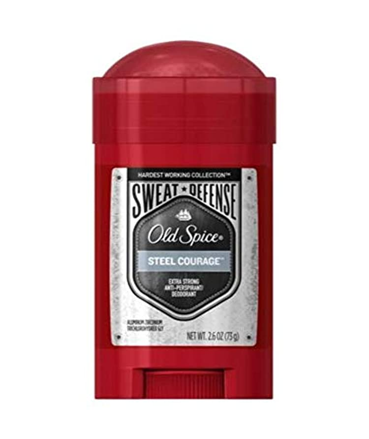 メンテナンスけん引裁定Old Spice Hardest Working Collection Sweat Defense Steel Courage Antiperspirant and Deodorant - 2.6oz オールドスパイス...