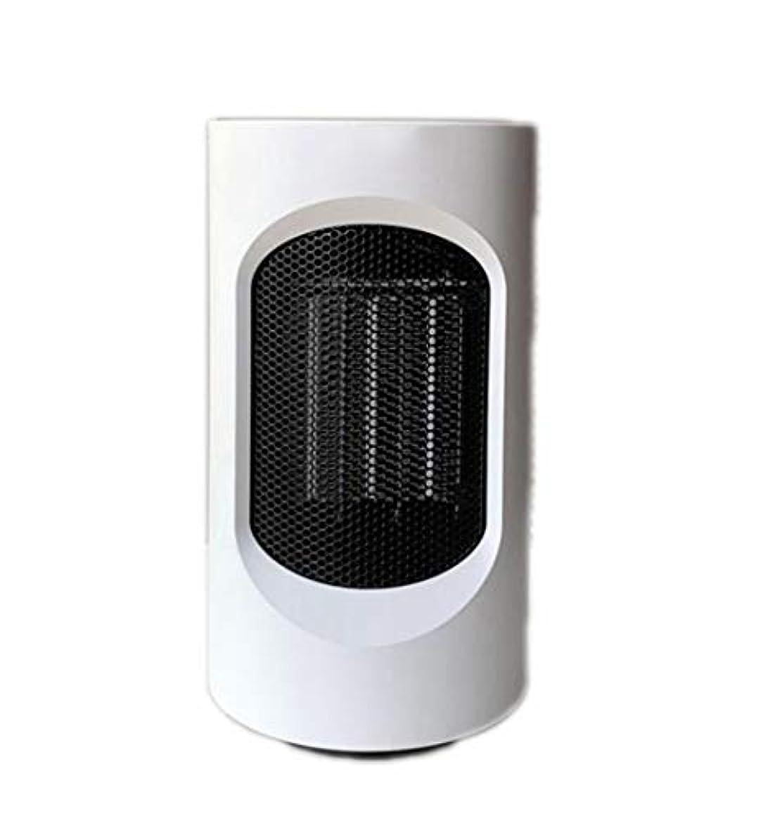 アルカイック段階創始者携帯用電気ヒーターホームオフィスのデスクトップヒーターミニ熱風送風機600W 2つのギア/過熱保護を調整することができます (Color : White)