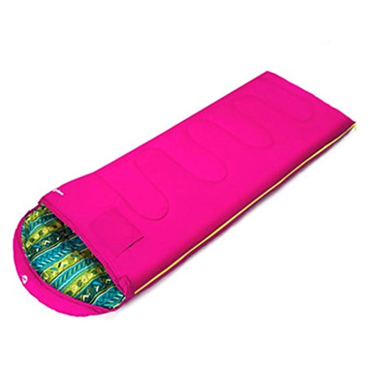 幼児魔術精通した折りたたみ式ベッド 寝袋大人の屋内の厚い暖かい屋外キャンプの冬の内臓羽毛の寝袋180 * 75 cm適切な温度-5°C -0°C (Color : Pink)
