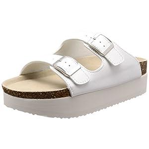 [ウィゴー] レディースファッションサンダル 厚底コンフォートサンダル ホワイト 24.5~25.0 cm