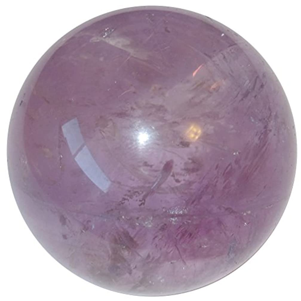 カビマーティンルーサーキングジュニアうねるサテンクリスタルアメジストボールプレミアムクリアパープルバイオレットレインボー球SpiritualエネルギーHealing Stoneブラジルp08 1.8 Inches パープル amethystball08-1.8