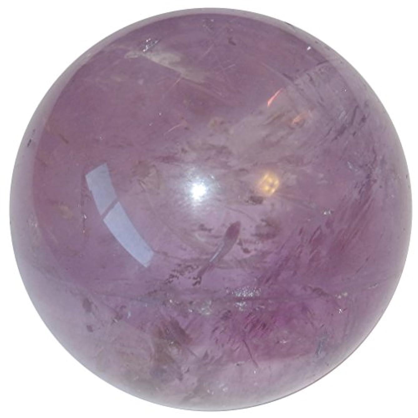 ガムバルセロナ暗殺者サテンクリスタルアメジストボールプレミアムクリアパープルバイオレットレインボー球SpiritualエネルギーHealing Stoneブラジルp08 1.8 Inches パープル amethystball08-1.8