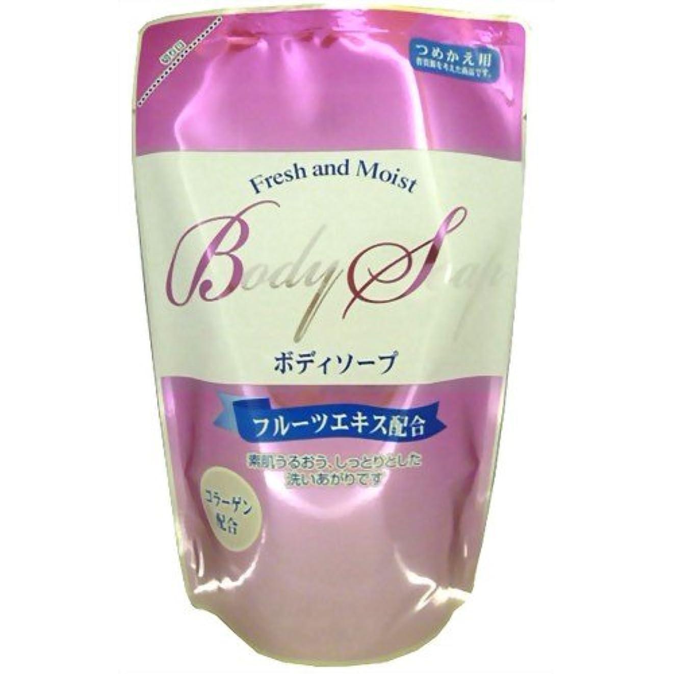 朝ごはん咽頭冷蔵するエオリア フレッシュアンドモイスト ボディソープ つめかえ用 300ml
