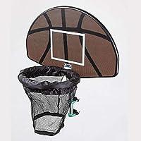 ユニバーサルデザイン丈夫な使用トランポリンバスケットボールフープリングバックボードボールセットバスケットボールフープ用品(カラー:ブラック)