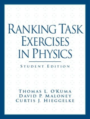 Download Ranking Task Exercises in Physics: Student Edition (Pearson Series in Educational Innovation: Student Resources for Physics) 013144851X