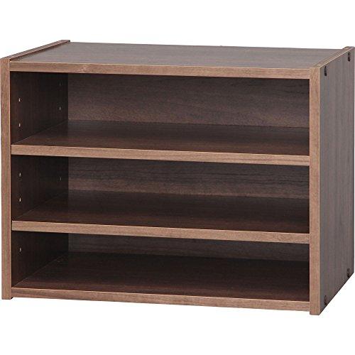 アイリスオーヤマ スタック ボックス 棚 幅40×奥行28.7×高さ30.5cm ブラウン STB-400T