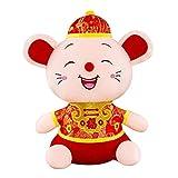 レッドラット人形 かわいい ネズミ ぬいぐるみ 中国風 2020年の春節 旧正月ラット マスコット 漫画 干支マスコット人形 動物 装飾 レッド ラッキー インテリア おもちゃ ギフト お土産 新年 パーティー 贈り物