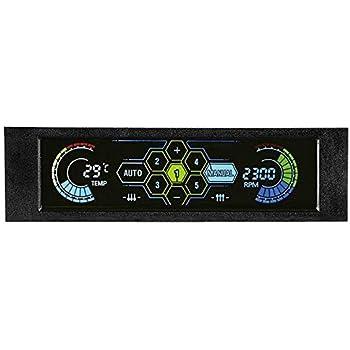 アイネックス タッチ式 5ch ファンコントローラー 温度 アラーム付き ファンコン FM-09