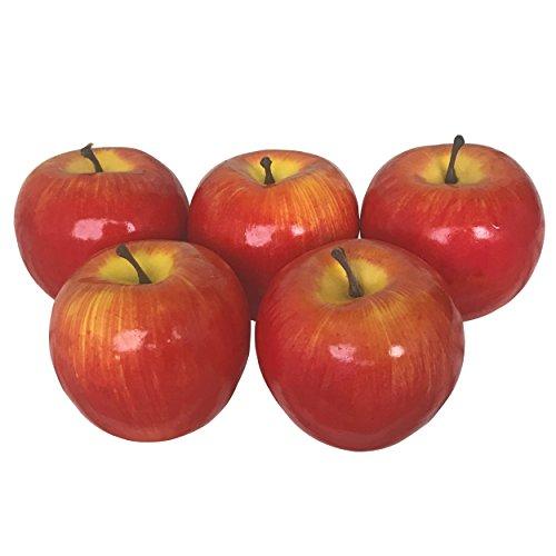 SENYON 食品サンプル リンゴ 果物 フルーツ ディスプレイ 模型 (5個, 赤)
