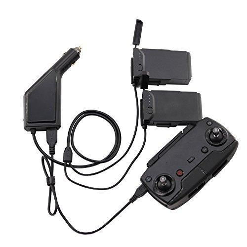 Xberstar DJI Mavic Air 充電器 車載充電器 カーチャージャー バッテリー2台と送信機を同時充電可能