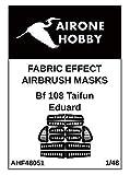 エアワンホビー 1/48 メッサーシュミットBf108 コントロールサーフェイス 塗装マスクシール (エデュアルド用) プラモデル用マスキングシール AOHF48051