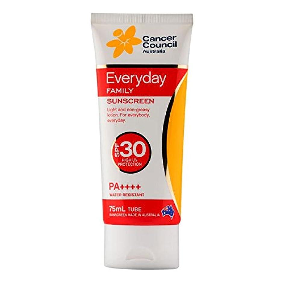 あらゆる種類のビザ悪名高いCancer Council Australia Everyday Sunscreen Moisturizing Lotion SPF 30 PA+++ High UVA + UVB Protection, 75ml by...
