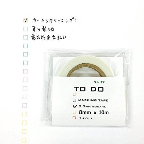 クレヨンTODOマスキングテープ3.7mm 1個パック TC-02
