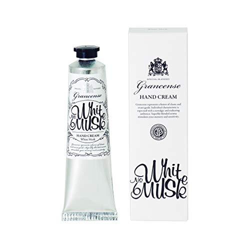 グランセンス ハンドクリーム ホワイトムスク 40g(手肌用保湿 シアバター配合 日本製 ベルガモットとミントの透明感ある香り)