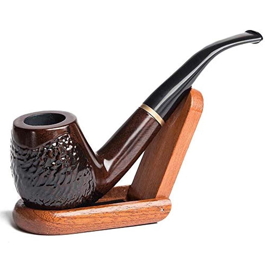 上回る夏楽しむHbkj- 黒と黒檀のタバコパイプで作られた標準のナチュラル滑らかな表面で喫煙するためのナチュラルハンドメイドクラシックミディアムサイズの屋内屋外タバコパイプ