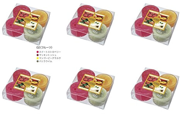 ターミナル口述する便宜YANKEE CANDLE(ヤンキーキャンドル) ティーライトアソート フルーツ【6点セット】