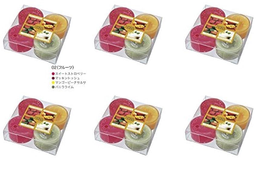 救援ドリルであるYANKEE CANDLE(ヤンキーキャンドル) ティーライトアソート フルーツ【6点セット】
